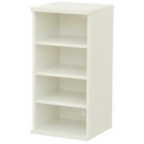 カラーボックス(収納棚/カスタマイズ家具) 4段 幅40×高さ81.9cm セレクト9040WH ホワイト〔代引不可〕【配達日時指定不可】