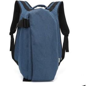 QTMIAO-Bags ユニセックスオックスフォードの布のショルダーバッグ防水屋外旅行バッグコンピュータバックパック大容量 (Color : Blue)