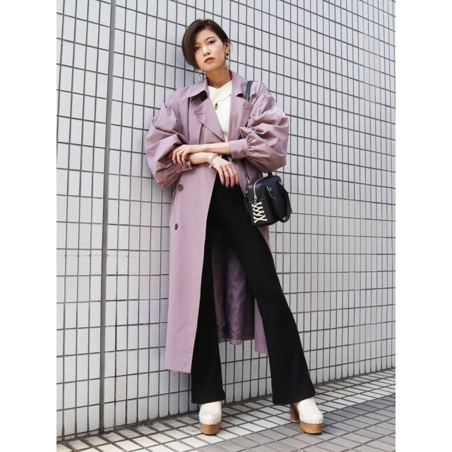 BULKY SLEEVE TRENCH CO
