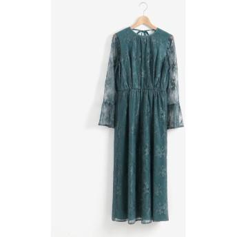 Kaene ペプラムスリーブドレス