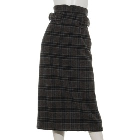 UK WOOL チェックタイトスカート