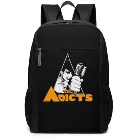 男女兼用 ADICTS 3 リュックサック バックパック ビジネスリュック 登山リュック アウトドアリュック 通勤 通学 カバン 防水 出張 旅行 多機能バッグ 大容量 カスタム 個性的なリュックサック,ブラック,One Size