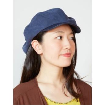 【チャイハネ】異素材パッチワークレトロキャスケット