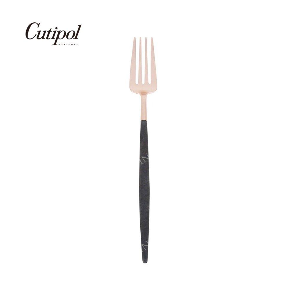 葡萄牙 Cutipol GOA 玫瑰金系列21.5cm主餐叉 (黑玫瑰金)