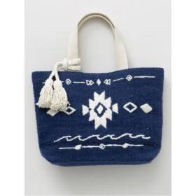 【Kahiko】オルテガ柄刺繍トートバッグ