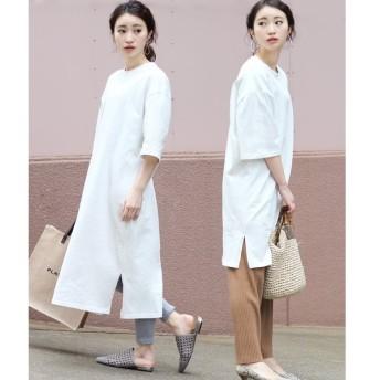 【ブージュルード】◆サイズで変わる着丈2種類◆綿100%Tシャツワンピース