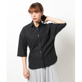 【50%OFF】 アルアバイル タイプライタービッグシャツ レディース ブラック 02 【allureville】 【セール開催中】