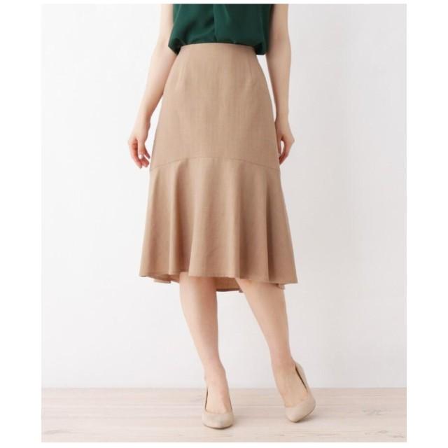 【大きいサイズあり・13号・15号】落ち感きれいな切り替えフレアスカート