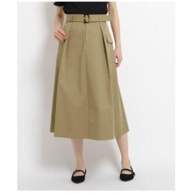 【洗える】ワークツイルミモレ丈スカート