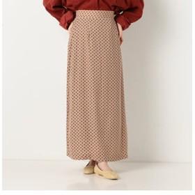 【archives:スカート】A-小紋柄ロングセミフレアスカート