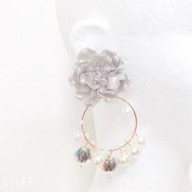 オーロラ姫の花のドレス(グレー)