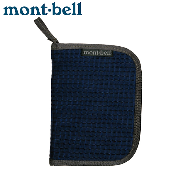 【Mont-Bell 日本 ZIP WALLET 拉鍊錢包《海軍藍》】1123767/證件袋/零錢包/皮夾/隨身包