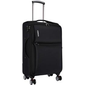 LNMLAN 防水スーツケース 機内持ち込め可 預入スーツケース 耐震 衝突防止 耐摩耗 消音キャスター ブレーキ付け 海外旅行TSA902 (S, ブラック)