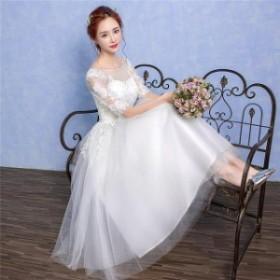 ウエディングドレス 結婚式ドレス 花嫁ウェディングドレス  ウェディングドレス プリンセスドレス エンイブニングドレス 二次宴会 diz117