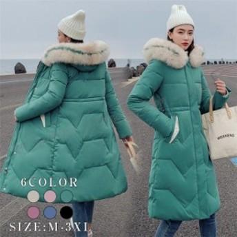 中綿ジャケット 中綿コート ロング丈 アウター ダウンジャケット ダウンコート フード付き 着痩せ ファッション 防寒 冬新作 30代40代 あ