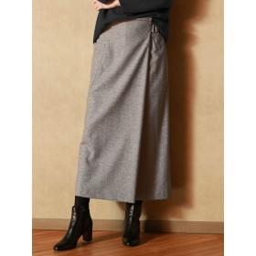 【雑誌掲載】シルクネップラップ風スカート