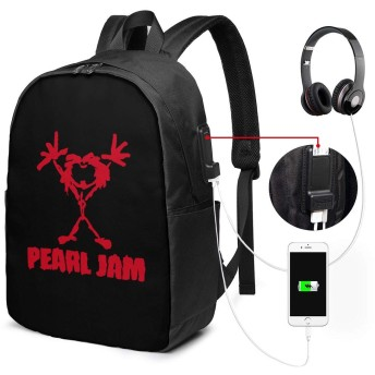 バックパック コンピューターのバックパック メンズ ビジネスリュック レディース リュックサック USB 充電ポート 15.6インチ PC リュック パール・ジャム 余暇 旅行 大容量 耐衝撃 人気 通勤 個性