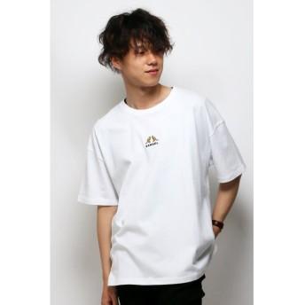 【28%OFF】 ヴァンスエクスチェンジ KANGOLワイドシシュウTシャツ メンズ ホワイト L 【VENCE EXCHANGE】 【セール開催中】