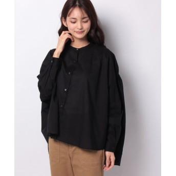 マーコート back gatherd wide shirt レディース BLACK f 【MARcourt】