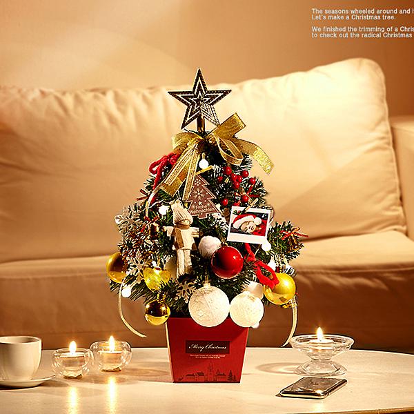圣誕節裝飾品小圣誕樹套餐桌面圣誕擺件場景布置圣誕節禮品禮物