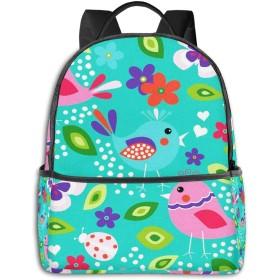 バックパック メンズ レディース ビジネス おしゃれ 高校生 通勤 大容量 多機能 盗難防止 防水 通学 旅行鞄 赤ちゃん鳥小さな花