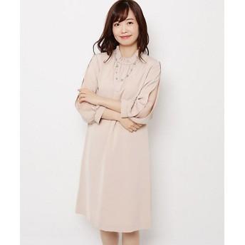 <SOUP> べネシャンスタンド衿ワンピース(2001612072) ピンク【三越・伊勢丹/公式】