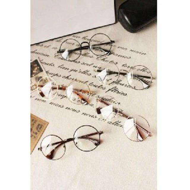 メンズ レディース メガネ ファッション アクセサリー  おしゃれ 細ぶち 人気 丸メガネ 男女兼用