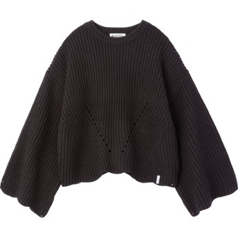 SCALLOP KNIT TOP