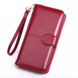 【L.Elegant】經典時尚簡約長夾拉鏈零錢包(共三色)B680