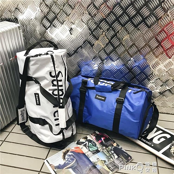 健身包男干濕分離訓練包網紅旅行包女短途運動行李手提大容量(pink Q時尚女裝)