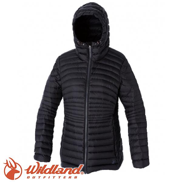 【Wildland 荒野 女款 700FP輕量時尚連帽羽絨外套《黑》】0A52111/連帽外套/羽絨衣/水鳥羽絨