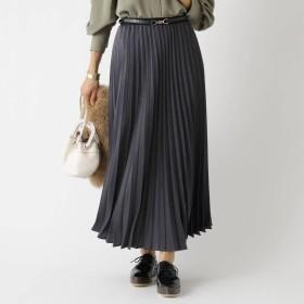 アクアガール aquagirl マロンサテンプリーツスカート (チャコールグレー)