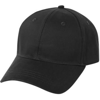 BOBIDYEE クールで快適なソリッドカラーの野球帽男性用レディーススポーツ快適な ヒップホップの日曜日の帽子 (色 : ブラック, サイズ : Adjustable)