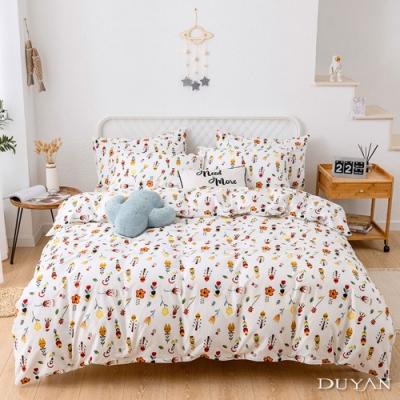 DUYAN 竹漾 100% 精梳棉 雙人床包三件組 朵朵花戀
