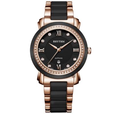 RHYTHM日本麗聲 都會陶瓷手錶-37mm F1303T04