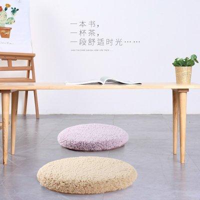 坐墊冬季毛絨圓形坐墊記憶棉餐椅墊圓凳子椅子坐墊客廳地板圓墊