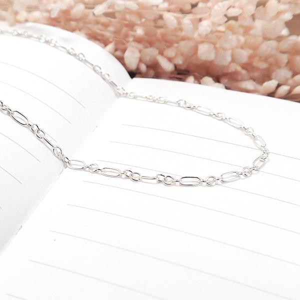 細緻費加洛項鍊(1.8mm細鍊) 16吋 925純銀項鍊 搭配鍊