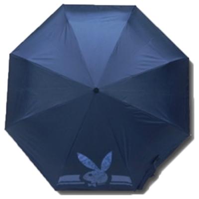 【PLAYBOY】RA56001BU奈米黑膠防風自 動三折晴雨傘藍色(傘面外徑116CM)