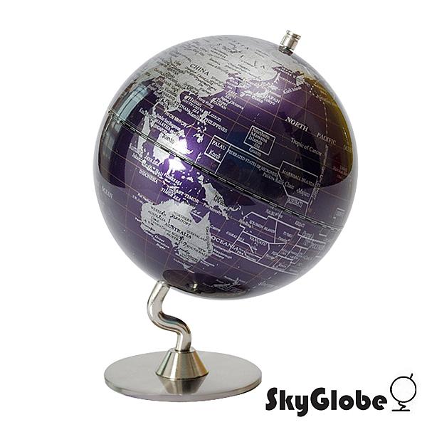 【SkyGlobe】5吋深紫色金屬底座地球儀(英文版)