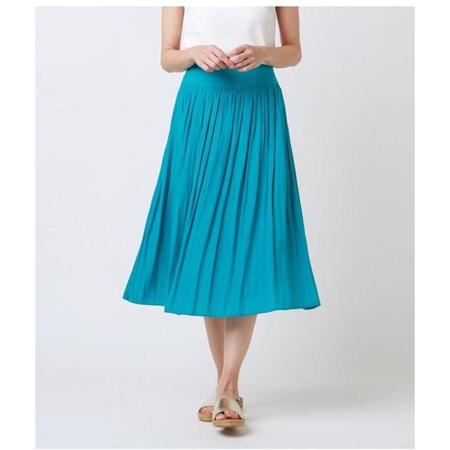 【ニューヨーカー】シルクタッチポリエステル ギャザースカート