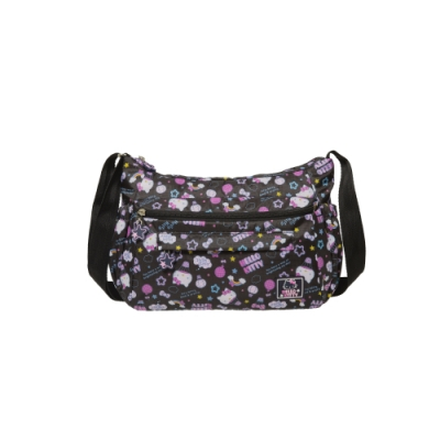 Hello Kitty凱蒂貓 悠遊星空 側背包 中 黑 KT01Q02BK