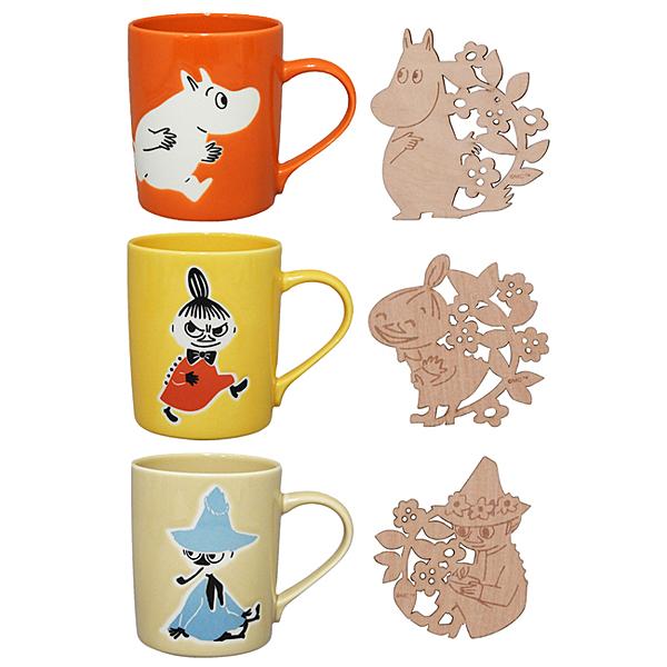 【日本正版】嚕嚕米 造型杯墊 馬克杯組 300ml 咖啡杯 YAMAKA陶瓷 慕敏 MOOMIN 270066 270073 270080