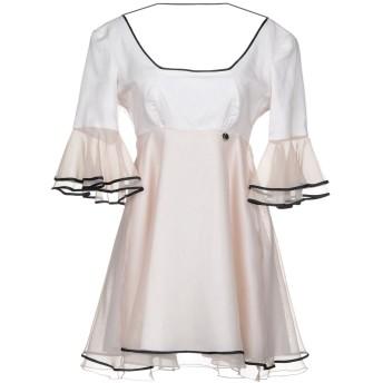 《セール開催中》MANGANO レディース ミニワンピース&ドレス ベージュ 40 シルク 100%