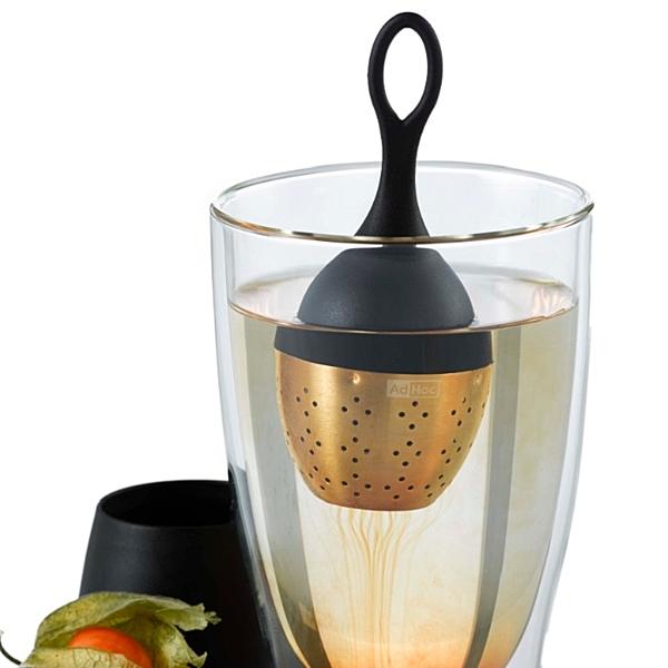 德國AdHoc 土豪金版漂浮濾茶器 泡茶 品茗配件 茶器 午茶時光 休閒聚餐 不鏽鋼 好生活