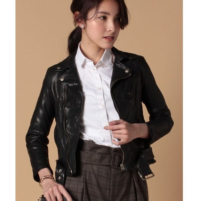 【ビューティフルピープル】shrink leatherriders jacket