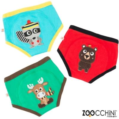 ZOOCCHiNi美國有機棉學習褲3入-森林動物