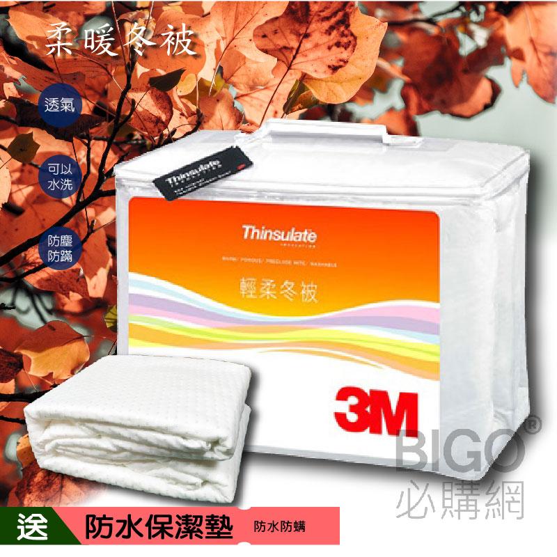 【送防水保潔墊】3M新絲舒眠輕柔冬被Z370 標準雙人 送保潔墊 床墊 防螨 棉被 冬被 透氣 保暖 居家用品 可水洗