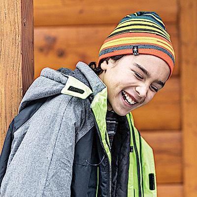 SmartWool 孩童雙面條紋圓帽 SW綠 L/XL