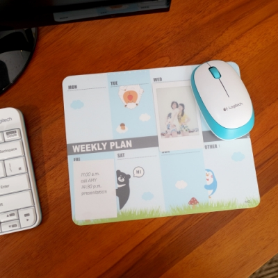歐士OSHI 雙層滑鼠墊 週計畫PLAY