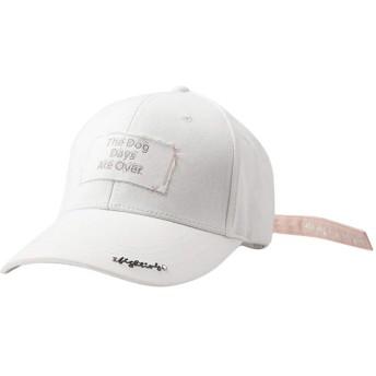 BOBIDYEE 野球帽レディースキャップ長めの白いリボンで舌のキャップスポーツ快適な 屋外ヒップホップの日曜日の帽子 (色 : ホワイト)